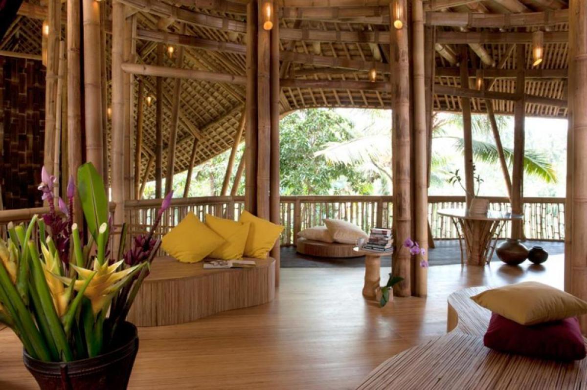 desain rumah bambu modern dan paling oke punya